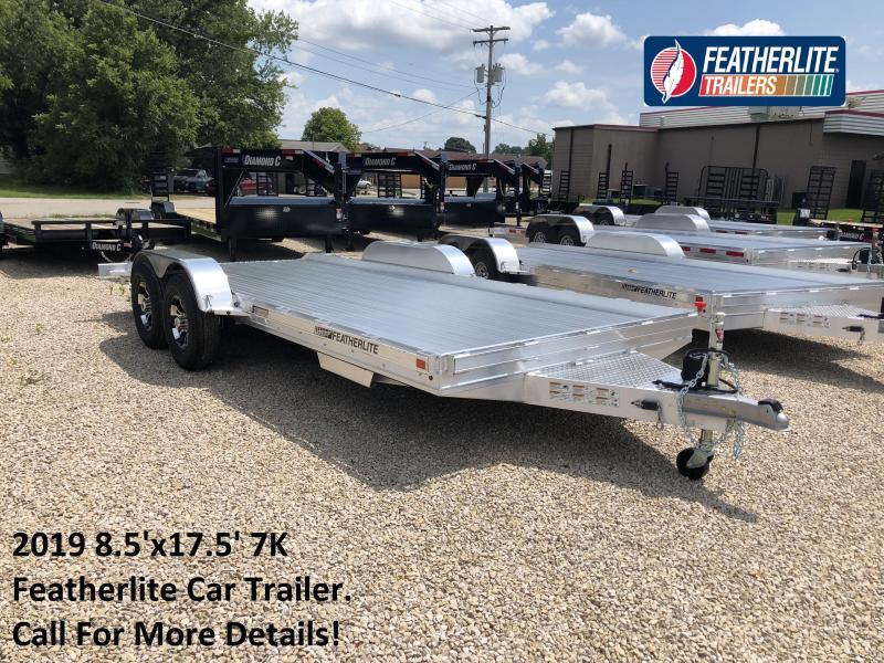 2019 8.5'x17.5' 7K Featherlite Car Trailer. 149711