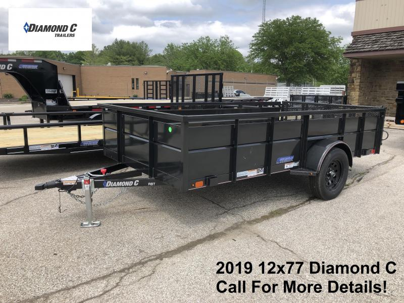 2019 12x77 Diamond C Utility Trailer. 14400