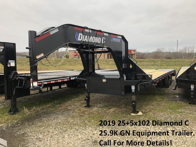 2019 25+5x102 25.9K Diamond C GN Equipment Trailer. 09445