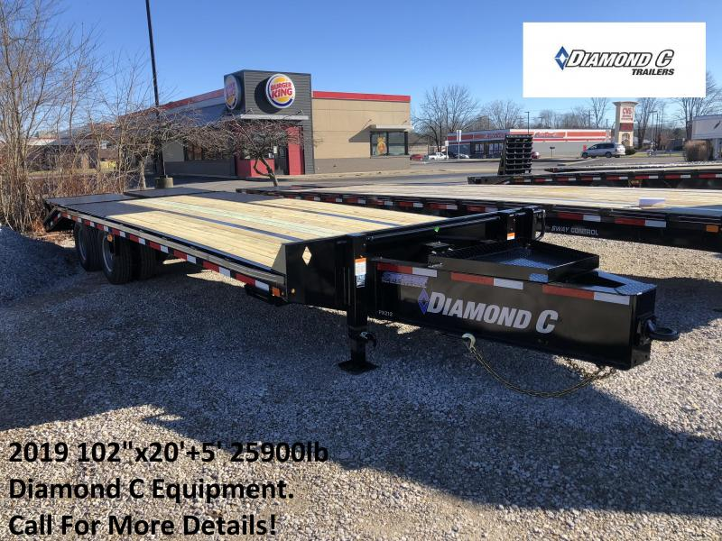 "2019 102""x20'+5' 25900lb. GVWR Diamond C Equipment. 08403"