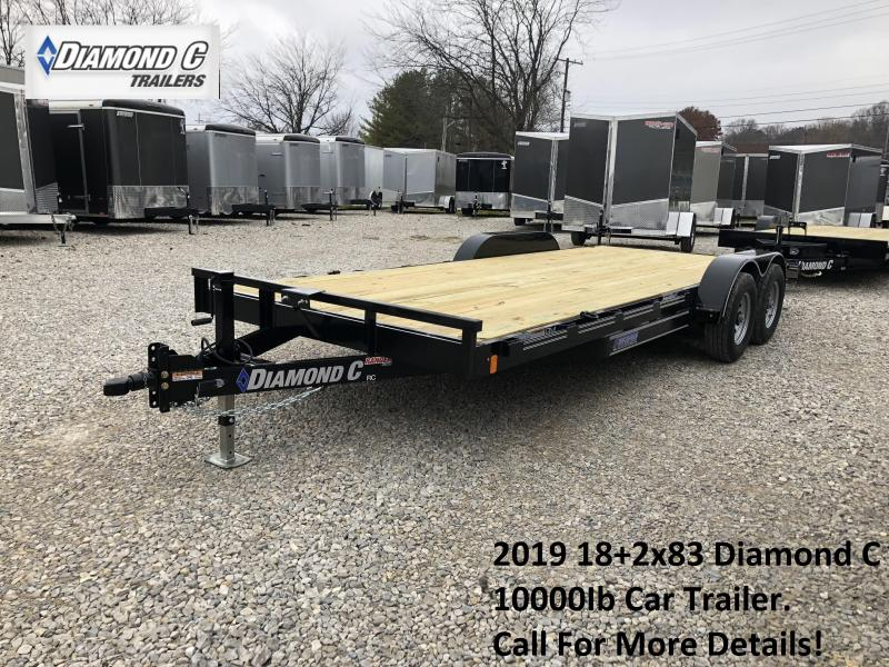 2019 18+2x83 10K Diamond C Car Trailer. 7886
