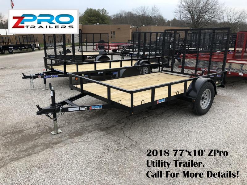 "2018 77""x10' ZPro Utility Trailer. 88042"