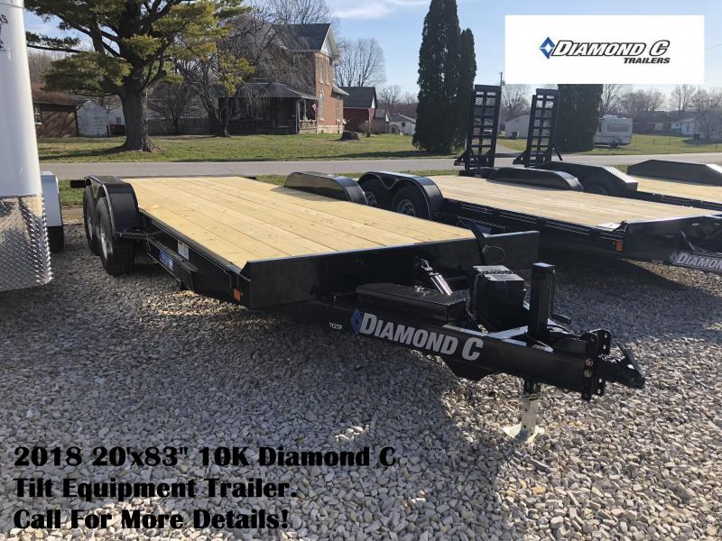 "2018 20'x83"" 10K Diamond C Tilt Equipment Trailer. 98141"