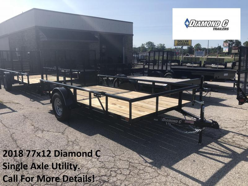 2018 77x12 Diamond C Single Axle Utility. 02602