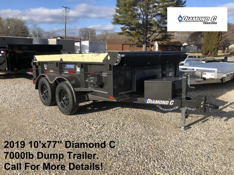 "2019 10'x77"" 7K Diamond C Dump Trailer. 11265"