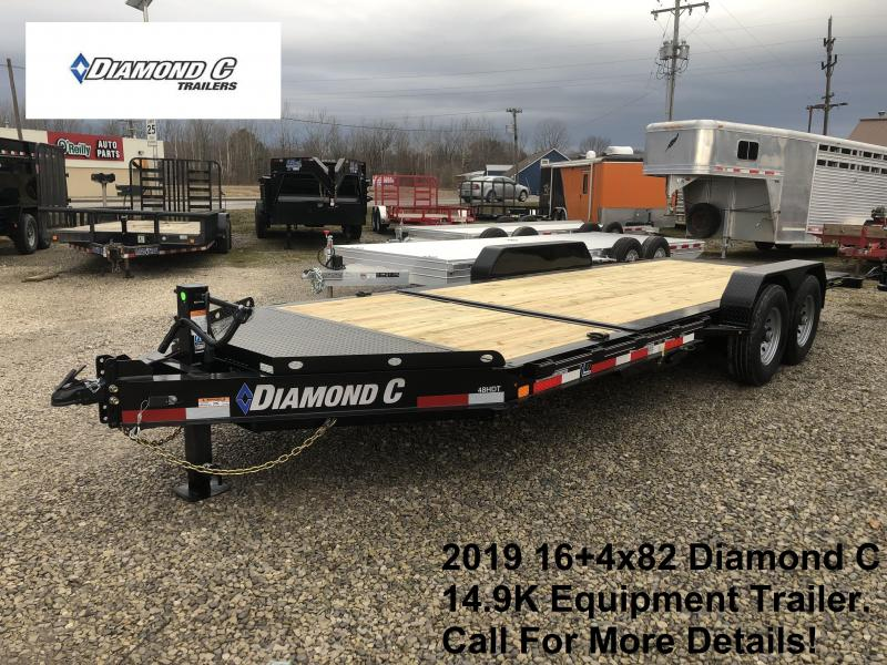 2019 16+4x82 14.9K Diamond C Equipment Trailer. 10210