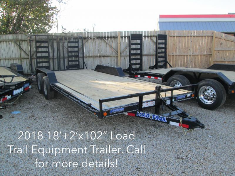 "2018 18'+2' x 102"" 10K Load Trail Equipment Trailer. 48289"