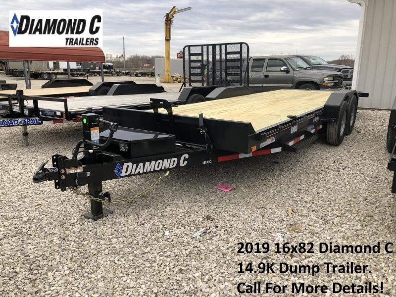 2019 22' 14.9K Diamond C Equipment Trailer. 9108