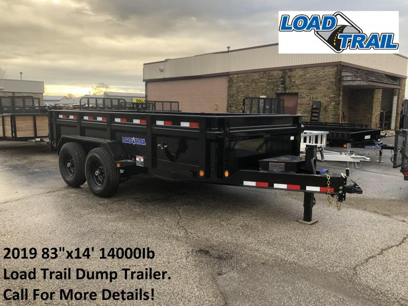 "2019 83""x14' 14K Load Trail Dump Trailer. 80054"