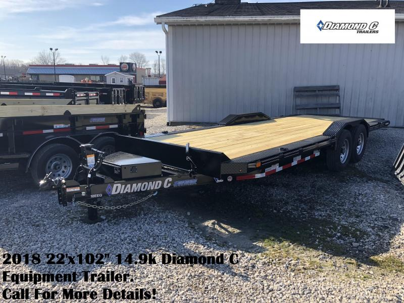 "2018 22'x102"" 14.9k Diamond C Equipment Trailer. 98938"