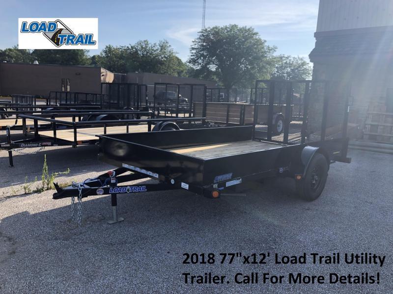 "2018 77""x12' Load Trail Utility Trailer. 69860"
