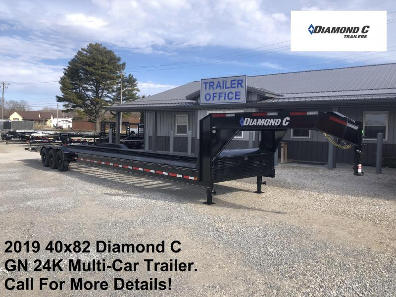 "2019 40'x82"" 24K Diamond C GN Multi-Car Trailer. 11781"