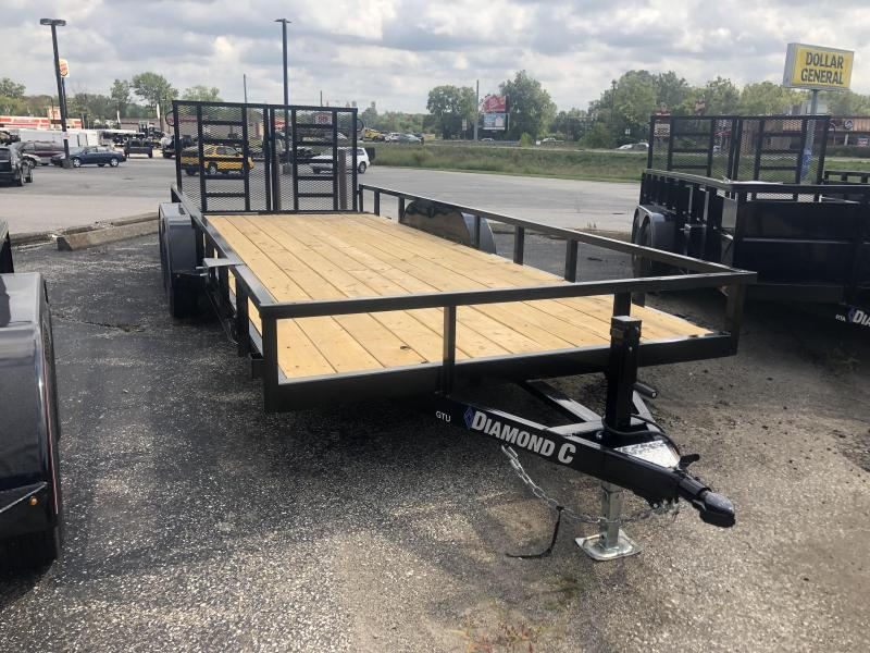 2019 20' 7K Diamond C Utility Trailer. 18511