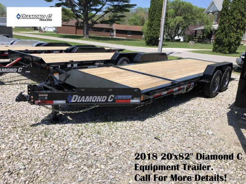 "2018 20'x82"" 14.9k Diamond C Equipment Trailer. 98800"