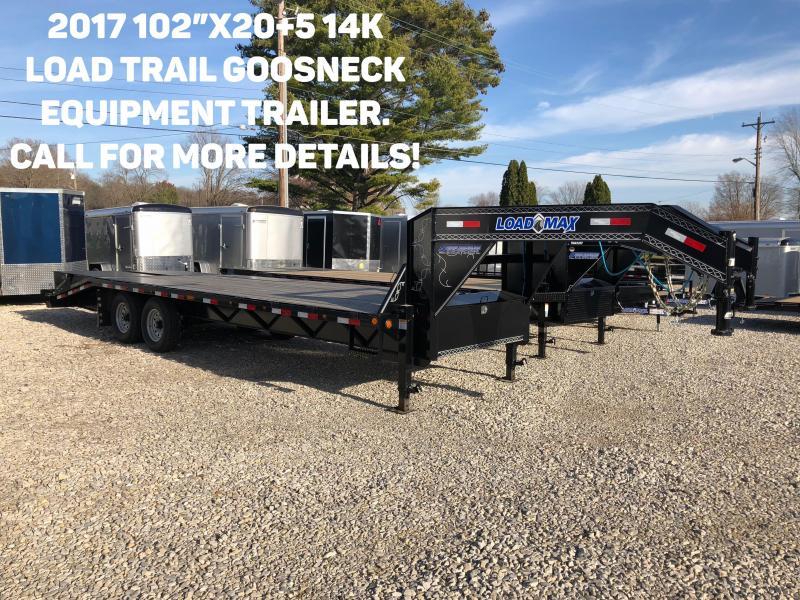 "2017 102"" x 20' + 5' 14k GN Equipment Trailer. 42565"