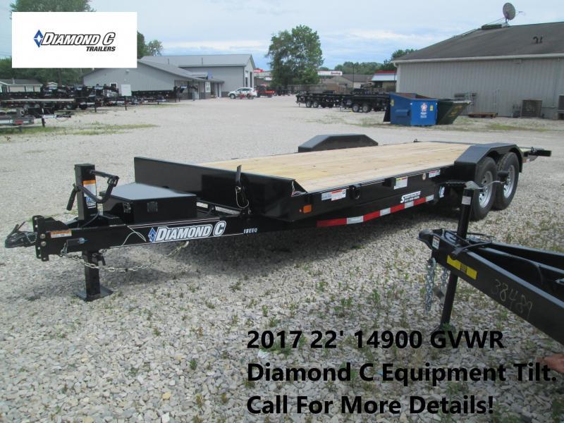 2017 22' 14900 GVWR Diamond C Equipment Tilt. 88866