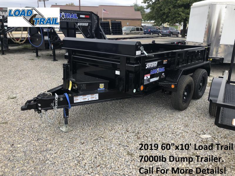 "2019 60""x10' 7K Load Trail Dump Trailer. 75047"