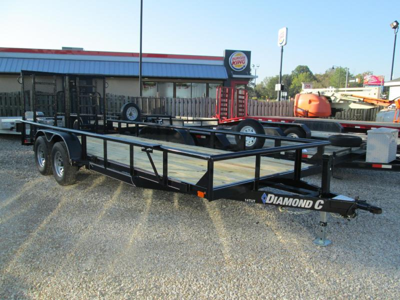 2019 18+2x82 10K Diamond C Utility Trailer. 5688