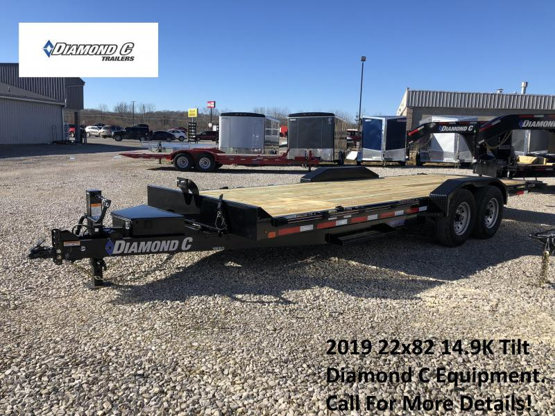 2019 22x82 14.9K Diamond C Tilt Equipment Trailer. 08998