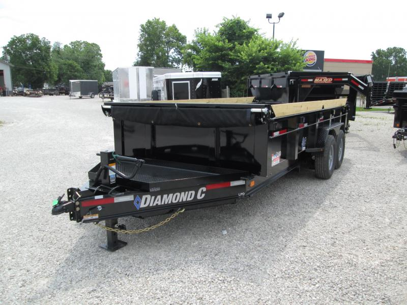 "2019 82""x16' 14900lb GVWR Diamond C Low-Pro Dump. 17505"