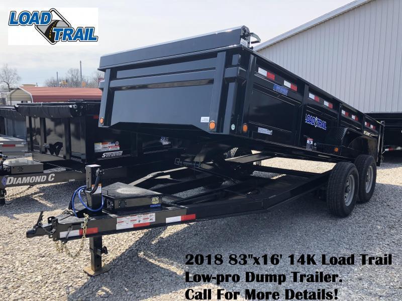 """2018 83""""x16' 14K Load Trail Low-pro Dump Trailer. 59768"""