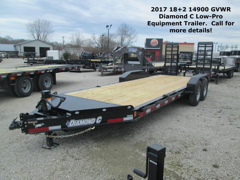 2017 18+2 14900 GVWR Diamond C Low-Pro Equipment Trailer. 86150