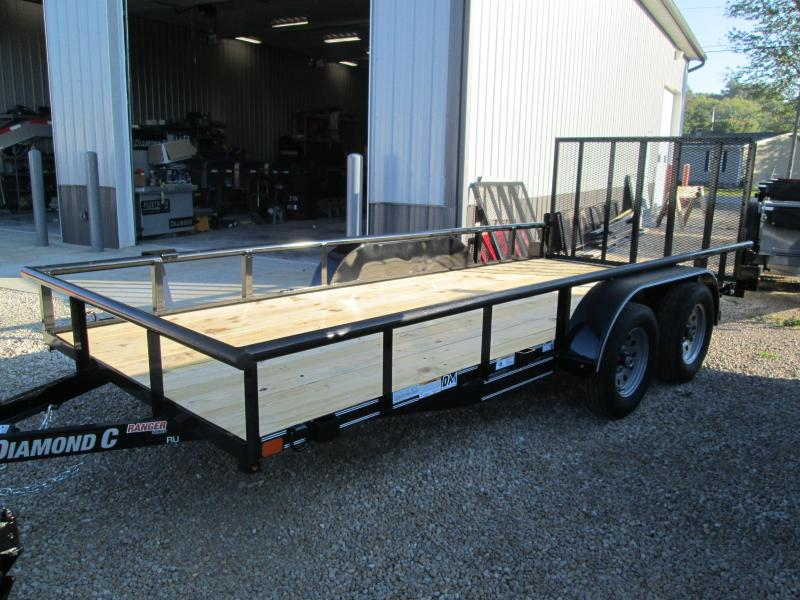 2019 16x77 7K Diamond C Utility Trailer. 5822