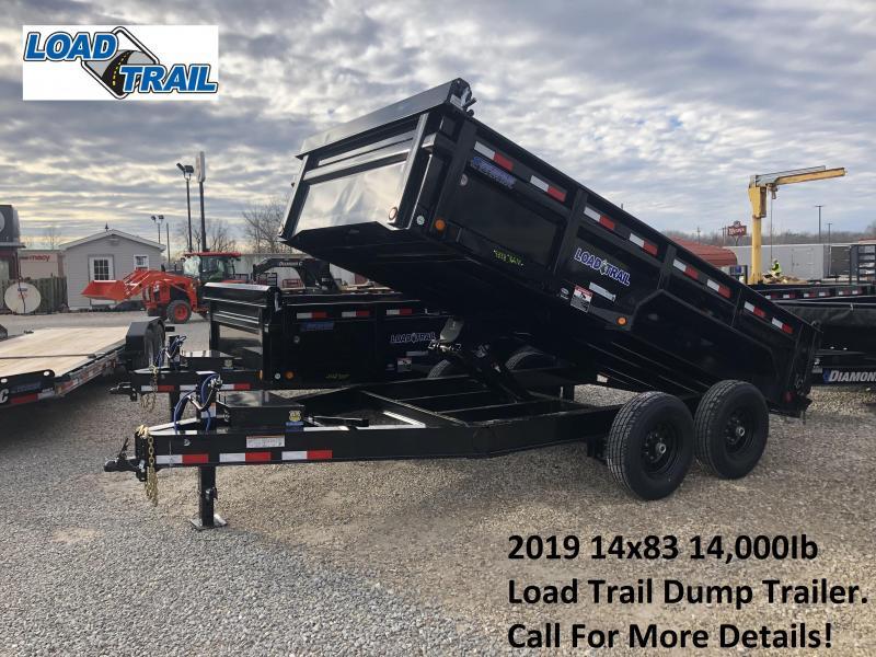 "2019 14'x83"" 14k Load Trail Dump Trailer. 80097"
