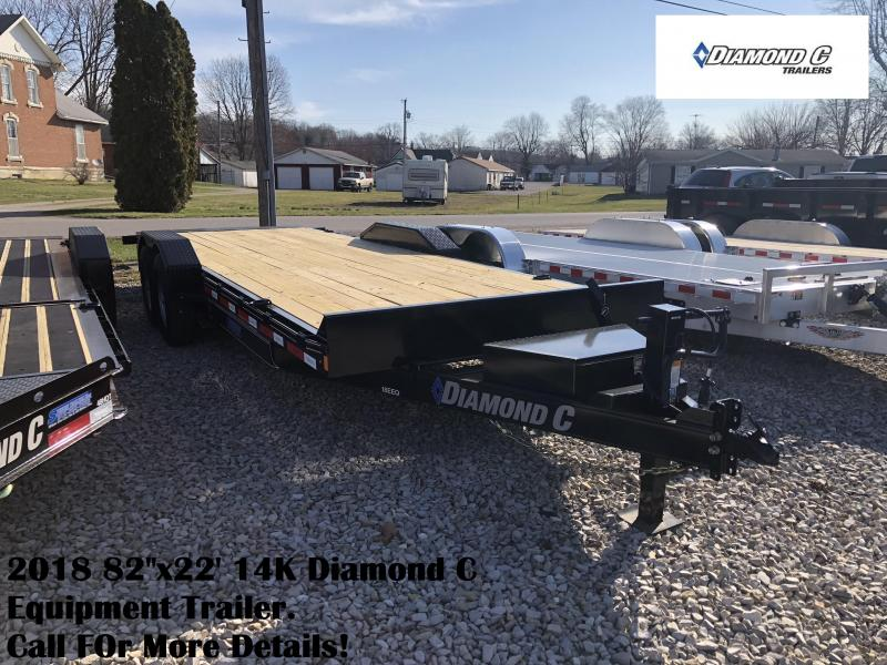 "2018 82""x22' 14K Diamond C Equipment Trailer. 98147"