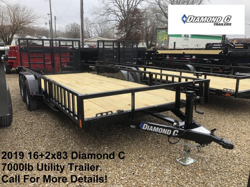 2019 16+2x83 7K Diamond C Utility Trailer. 10064