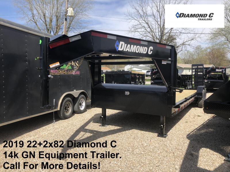 2019 22+2x82 14k Diamond C GN Equipment Trailer. 13521