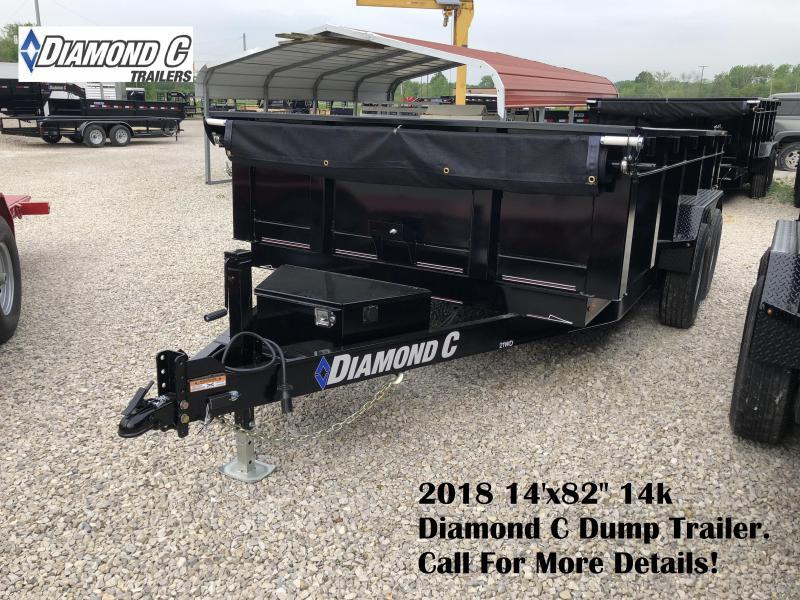 """2018 14'x82"""" 14k Diamond C Dump Trailer. 00482"""