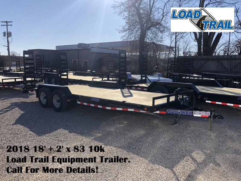2018 18'+2' x 83 10k Load Trail Equipment Trailer. 56033