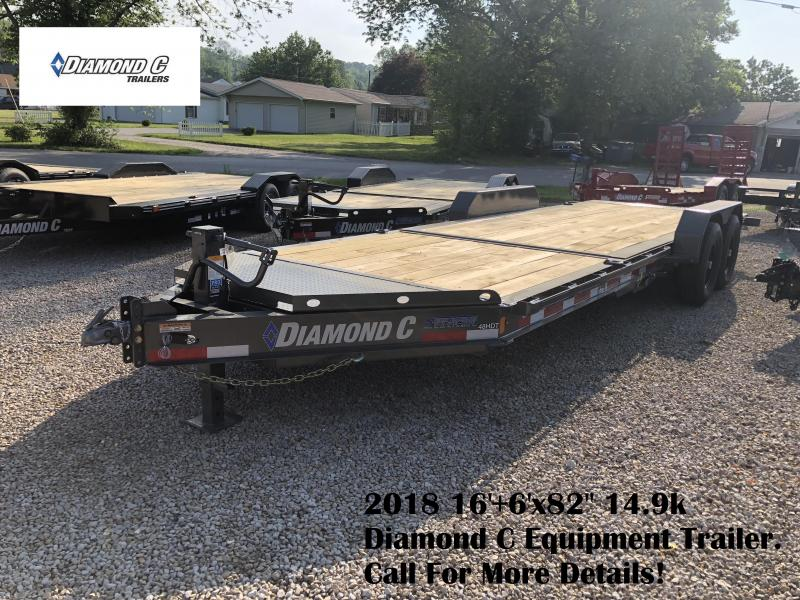 "2018 16'+6'x82"" 14.9k Diamond C Equipment Trailer. 00480"