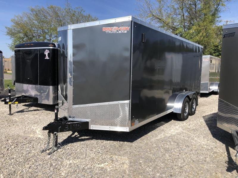2019 7x18 10K Discovery Enclosed Trailer. 3195