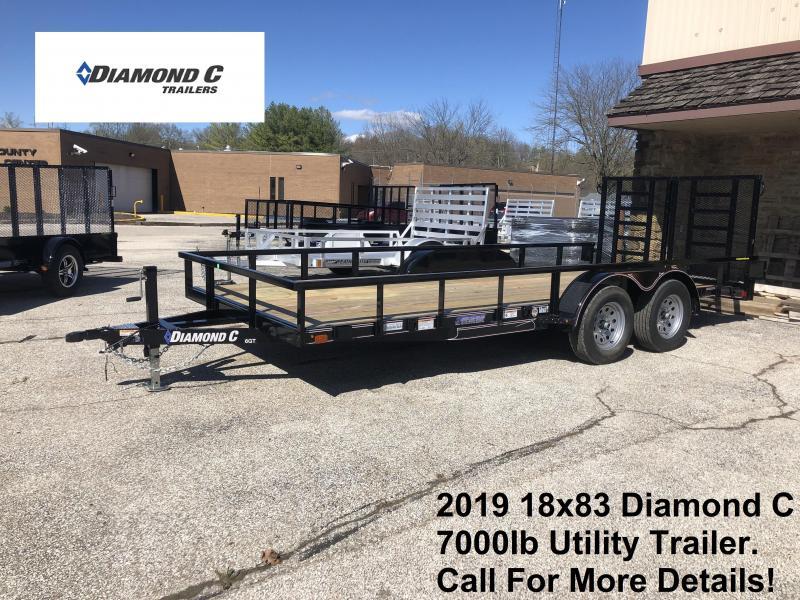 2019 16+2x83 7K Diamond C Utility Trailer. 10066