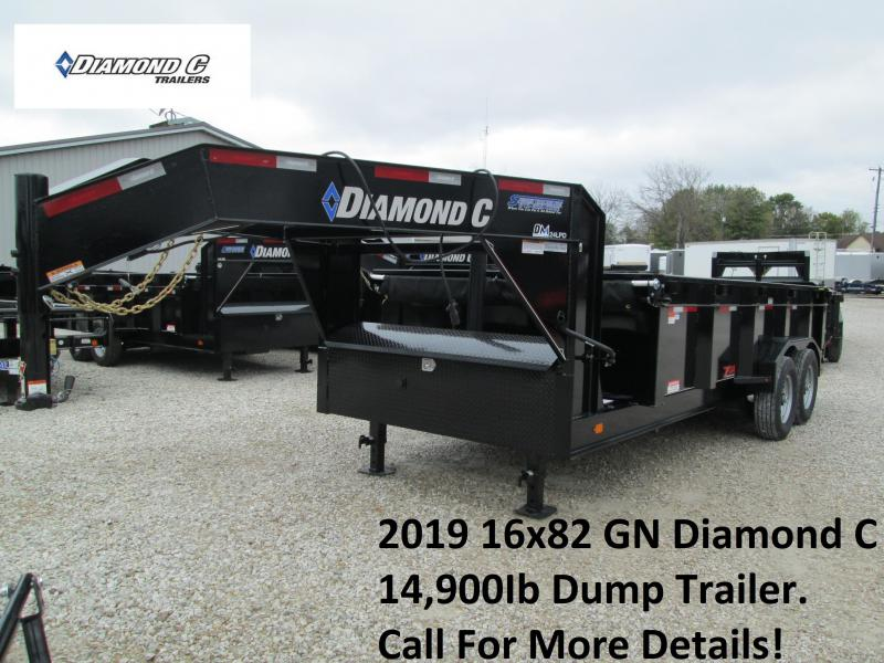 2019 16x82 14.9K GN Diamond C Dump Trailer. 6568
