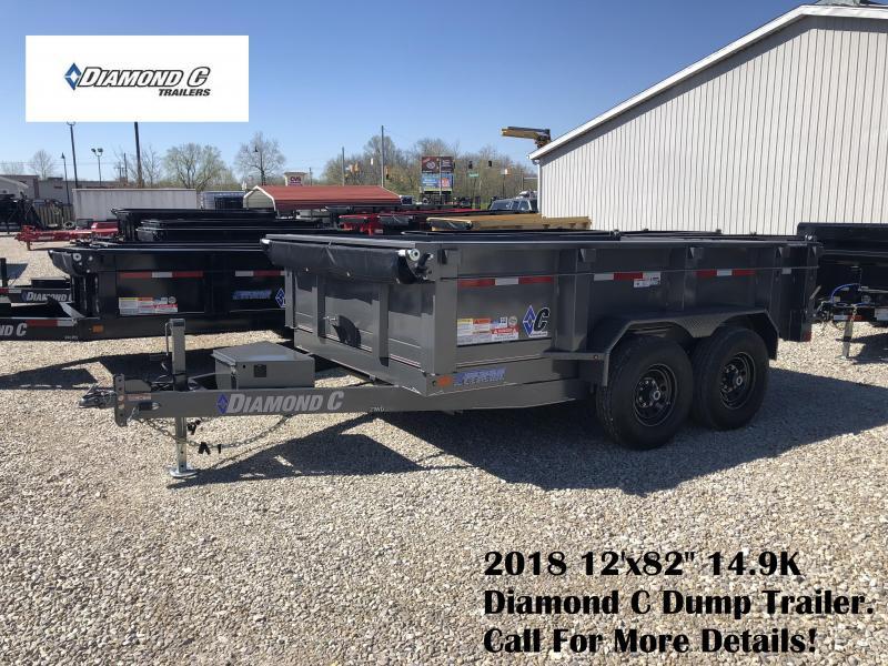 """2018 12'x82"""" 14.9K Diamond C Dump Trailer. 00478"""