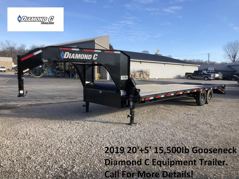 2019 20'+5' 15.5K Diamond C GN Equipment Trailer. 08860