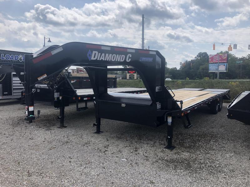 "2019 FMAX 207MR 25'x102"" 15.5K Diamond C Engineered Beam Equipment Trailer. 18028"