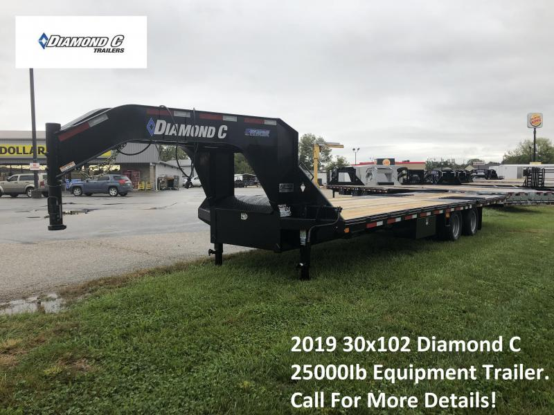 2019 30x102 25K Diamond C Equipment Trailer. 6389