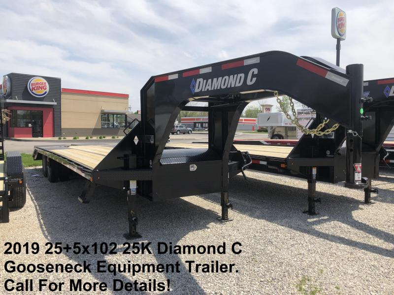 2019 25+5x102 25K Diamond C GN Engineer Beam Equipment Trailer. 11337