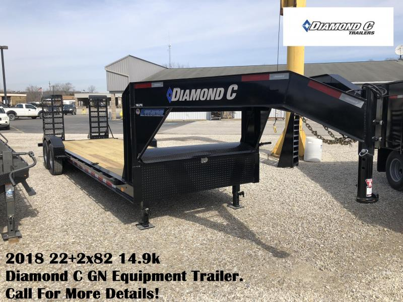 2018 22+2x82 14.9k Diamond C GN Equipment Trailer. 98878