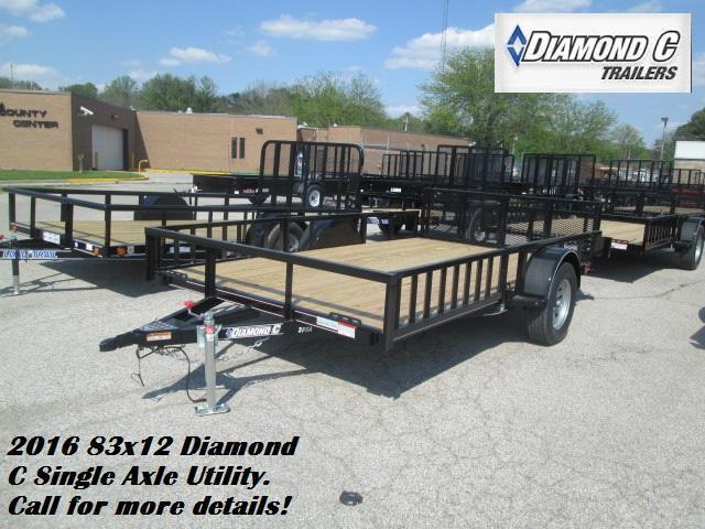 2016 83x12 Diamond C Single Axle Utility. 75768