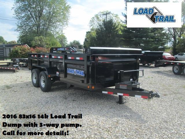 2016 83x16 14k Load Trail Dump with 3-way pump. 95615