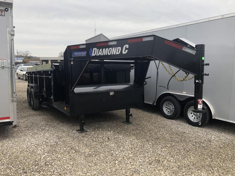 2019 16x82 14.9K Diamond C GN Dump Trailer. 12598