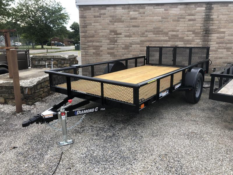 2019 12x77 Diamond C Utility Trailer. 18377