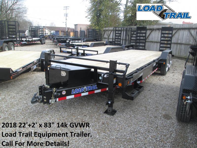 "2018 22'+2' x 83"" 14k GVWR Load Trail Equipment Trailer. 48292"
