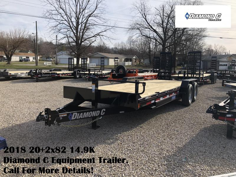 2018 20+2x82 14.9K Diamond C Equipment Trailer. 97797
