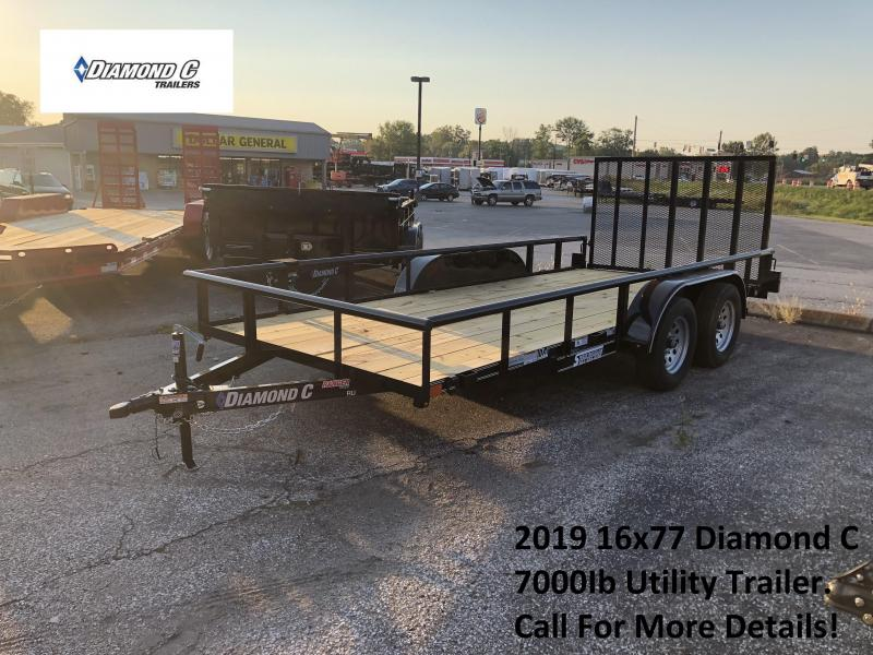 2019 16x77 7K Diamond C Utility Trailer. 5823